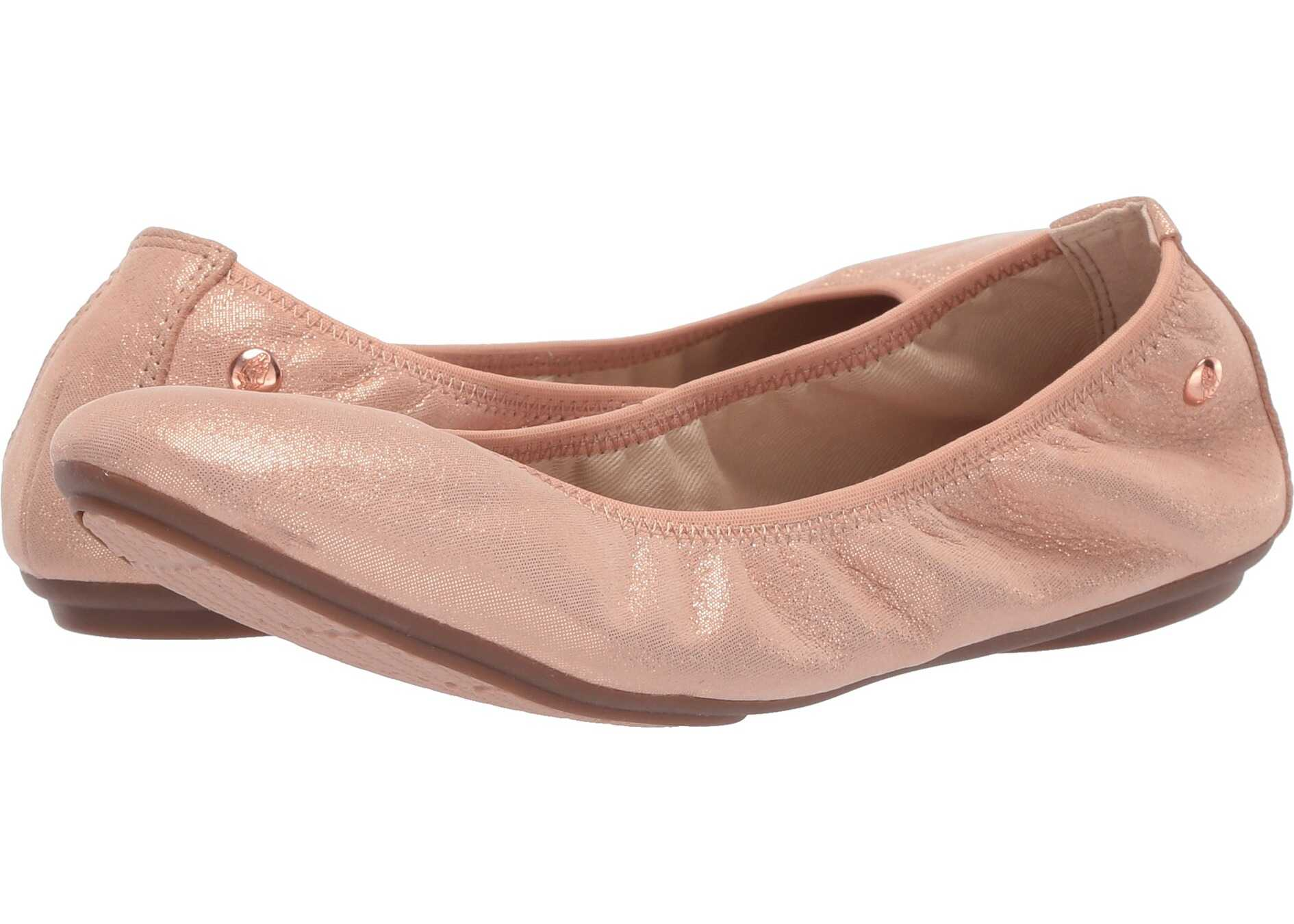 Hush Puppies Chaste Ballet Pale Peach Leather
