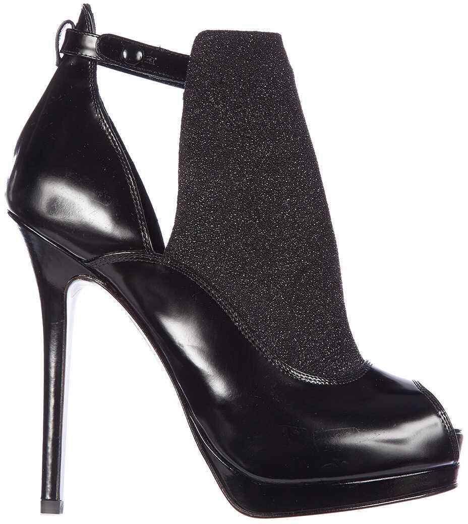 Fendi Ankle Boots Spazzolato Crosta Black