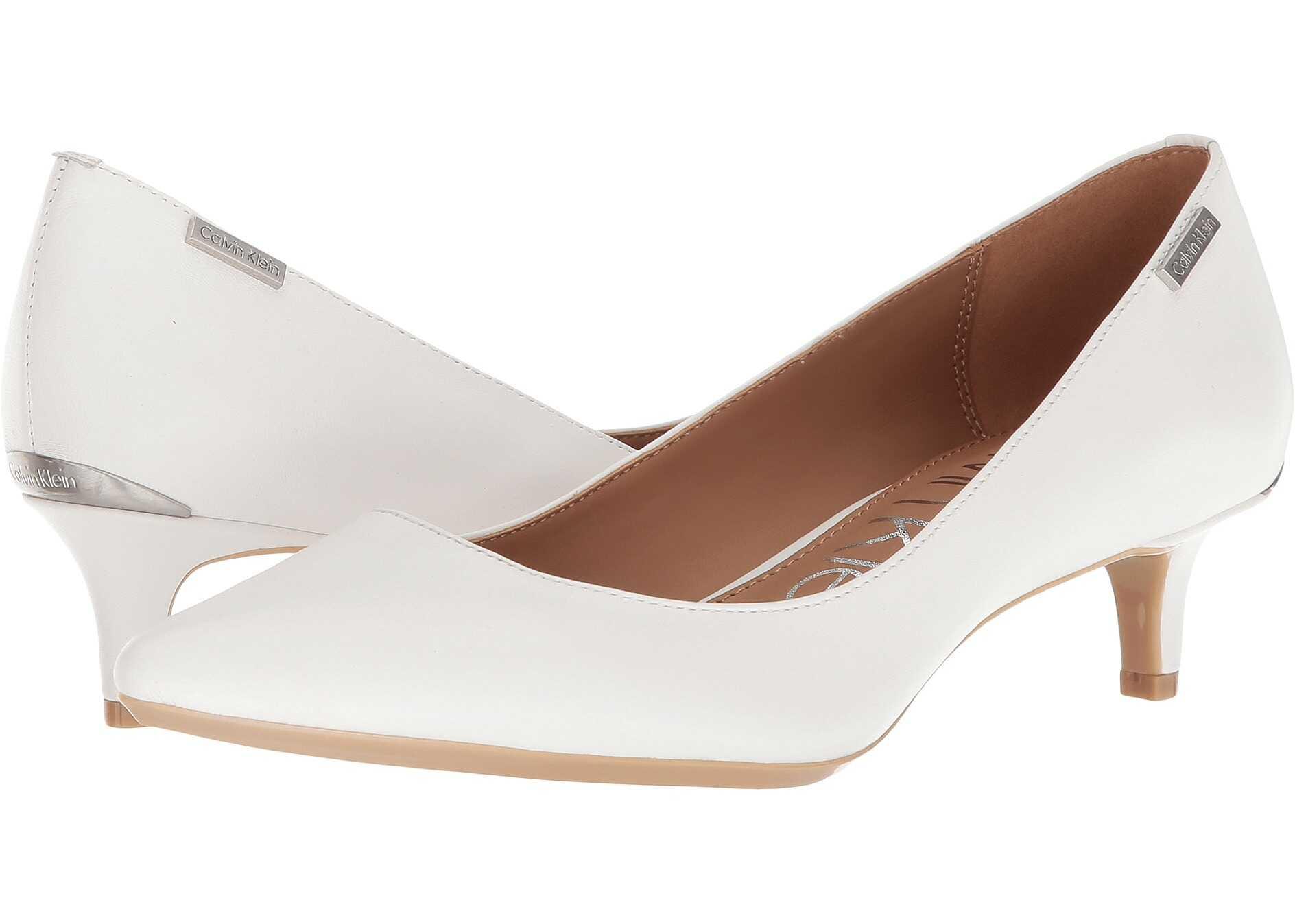 Calvin Klein Gabrianna Pump Platinum White