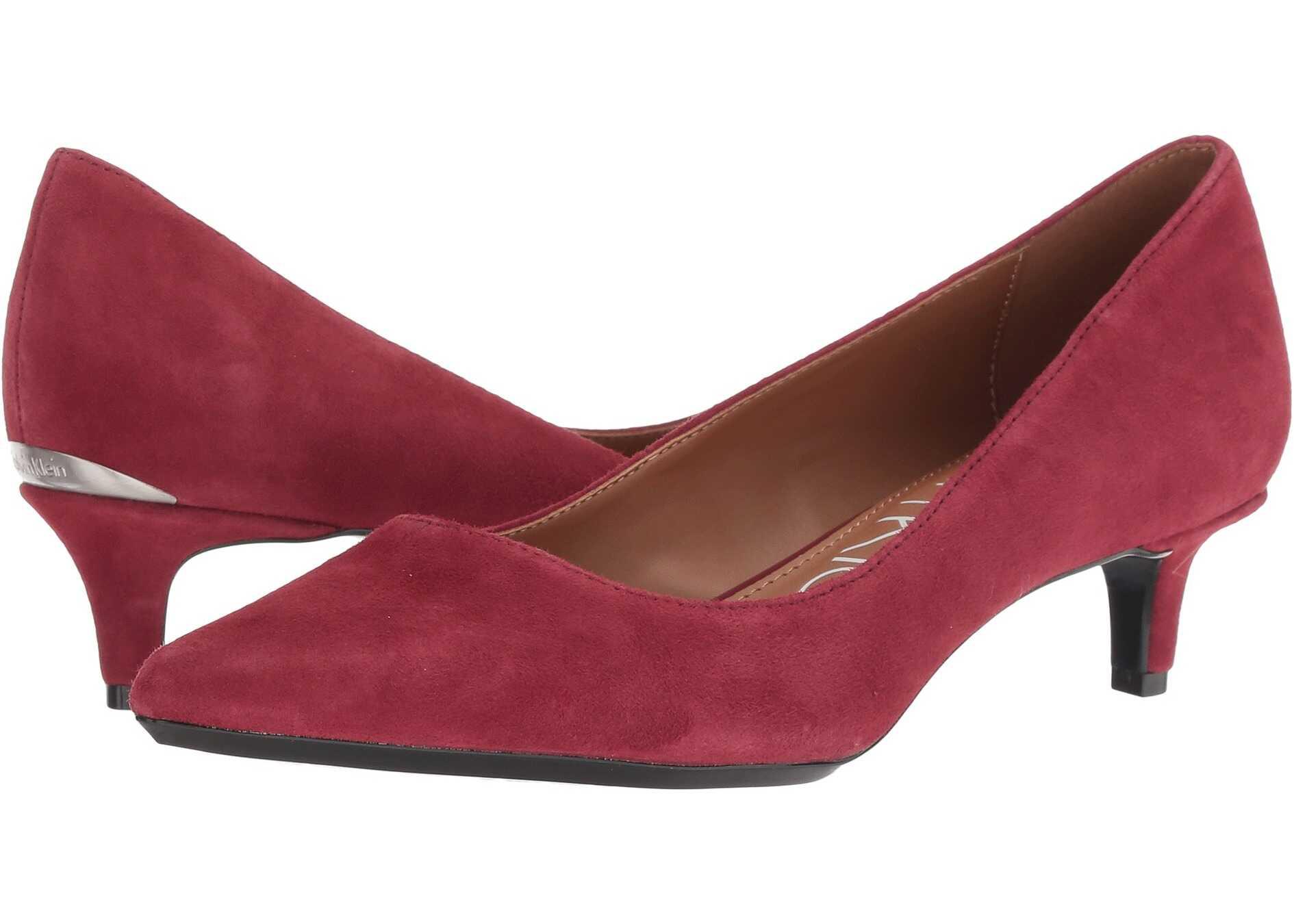 Calvin Klein Gabrianna Pump Red Rock Leather