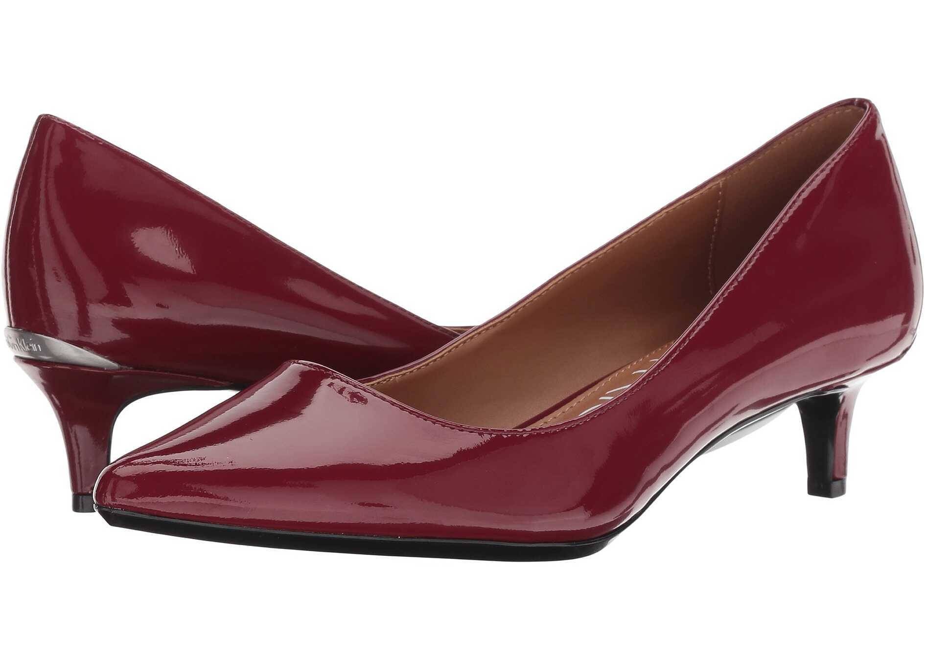 Calvin Klein Gabrianna Pump Red Rock Patent