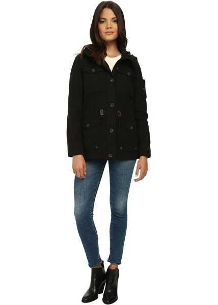 Geci Dama Levi's® Washed Cotton Fashion Four-Pocket Military w/ Hood
