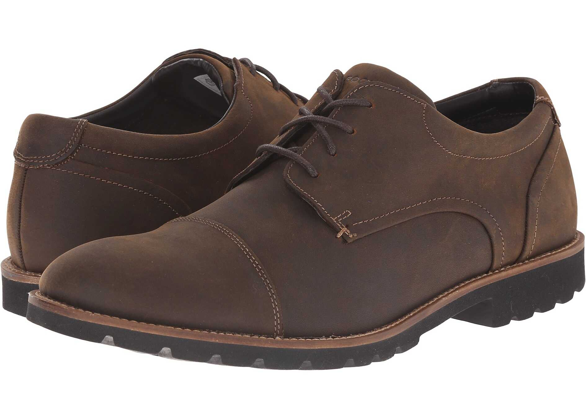 Rockport Sharp & Ready Channer Brown Oiled Leather