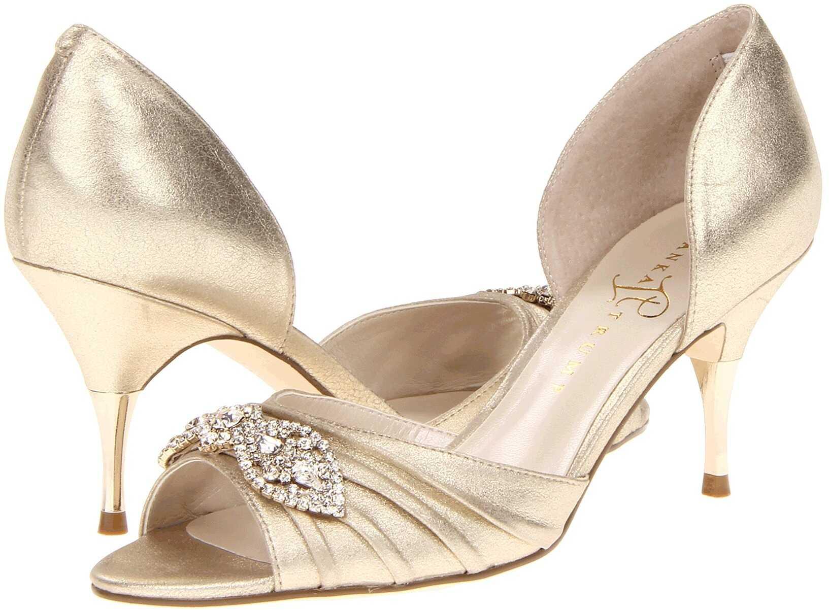 Pantofi Cu Toc Ivanka Trump Nanci Gold Suede