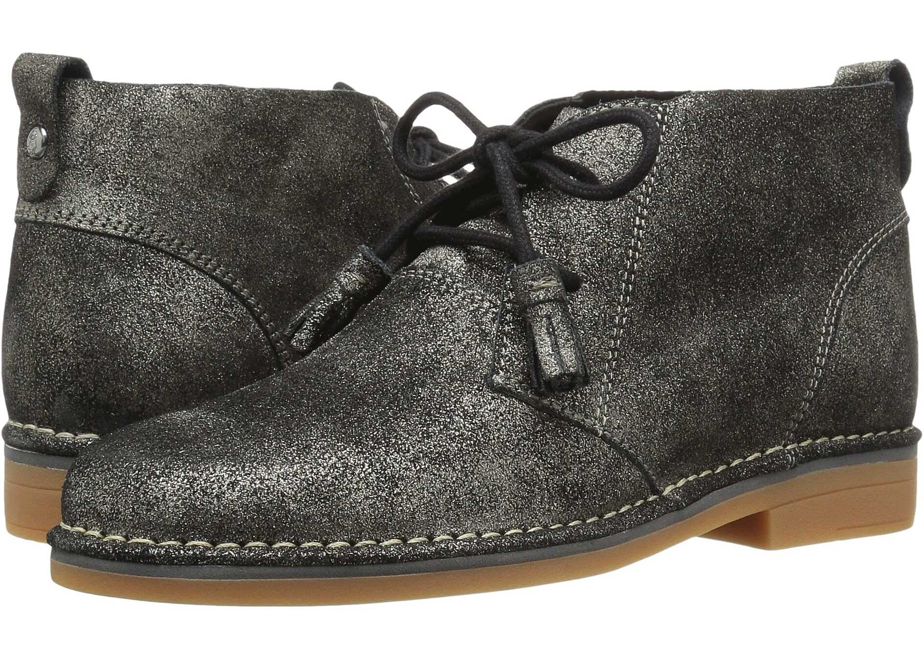 Hush Puppies Cyra Catelyn Gunmetal Glitter Leather