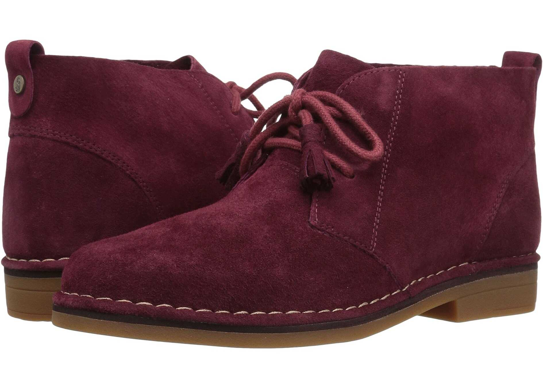 Hush Puppies Cyra Catelyn Burgundy Suede