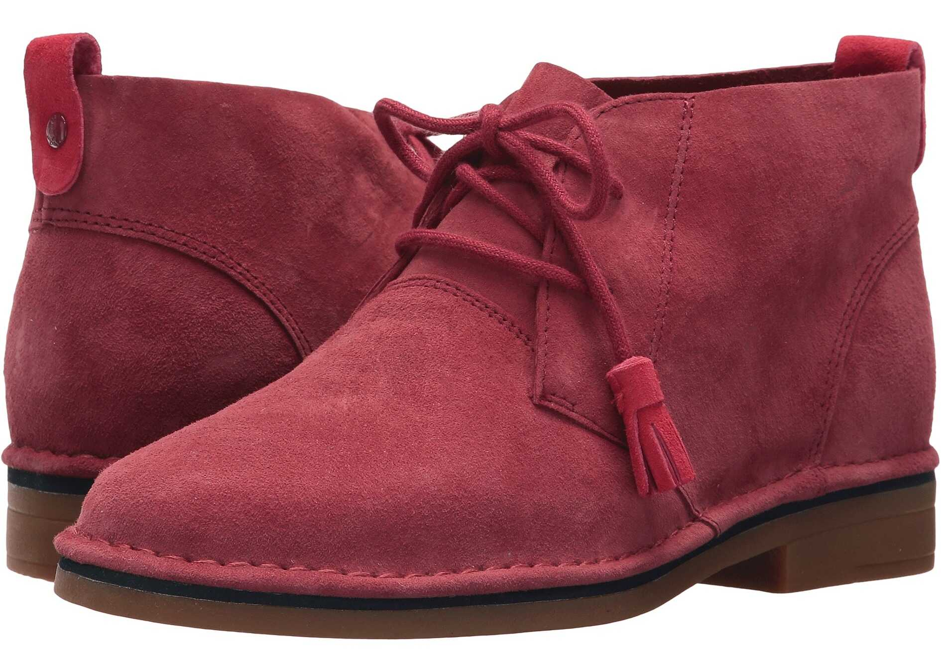 Hush Puppies Cyra Catelyn Dark Red Suede 1