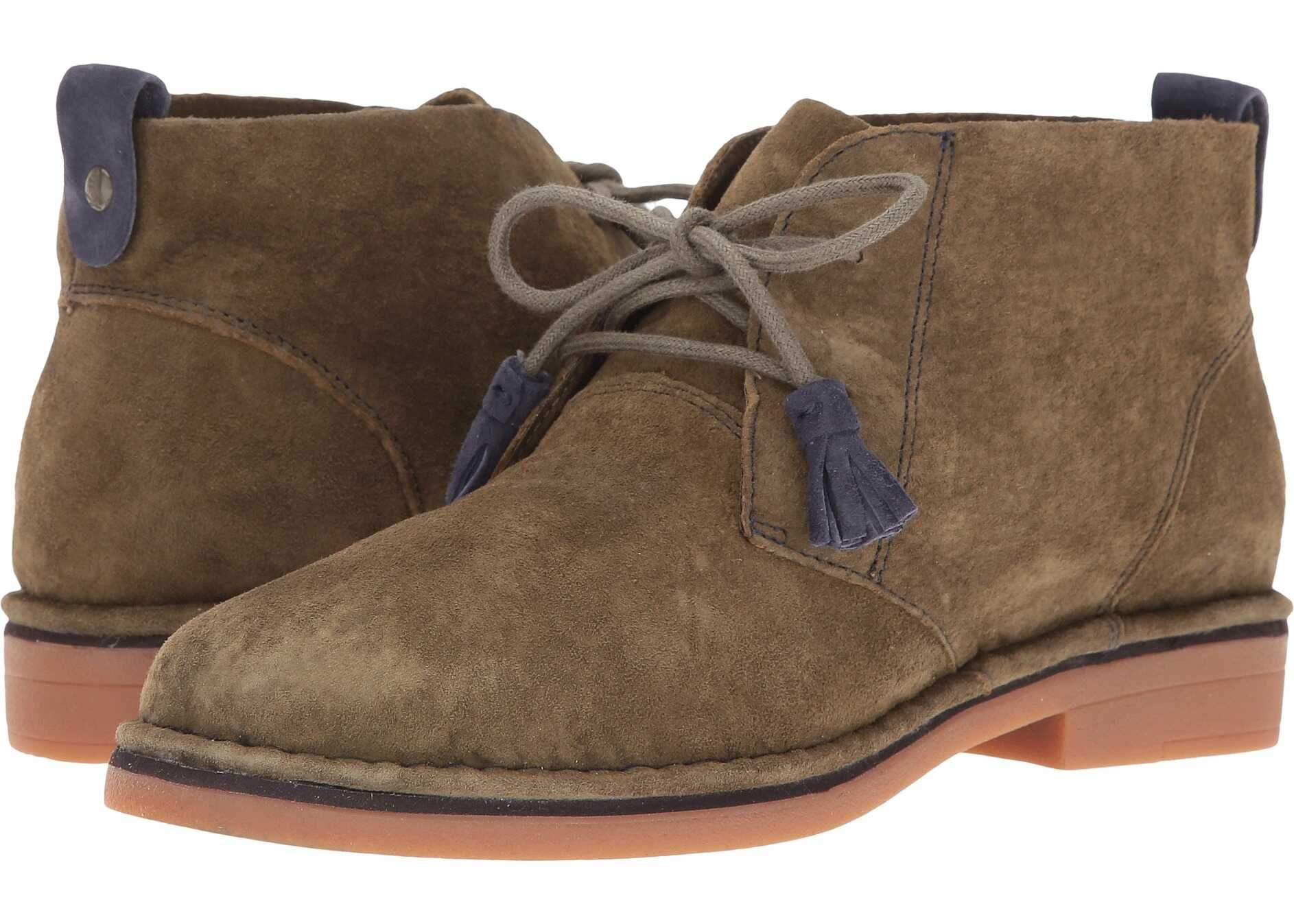 Hush Puppies Cyra Catelyn Dark Olive Suede