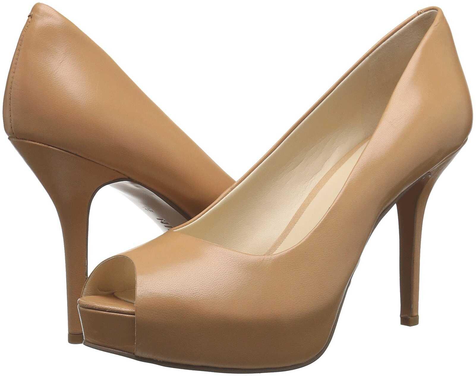 Pantofi Cu Toc Nine West Qtpie Light Natural Leath