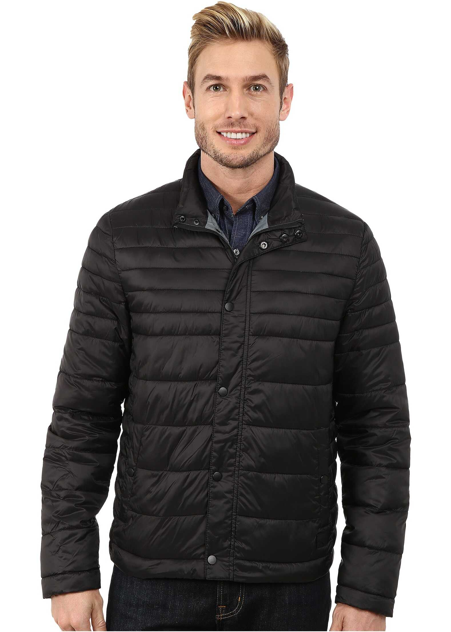 Kenneth Cole New York Quilted Poly Jacket Black