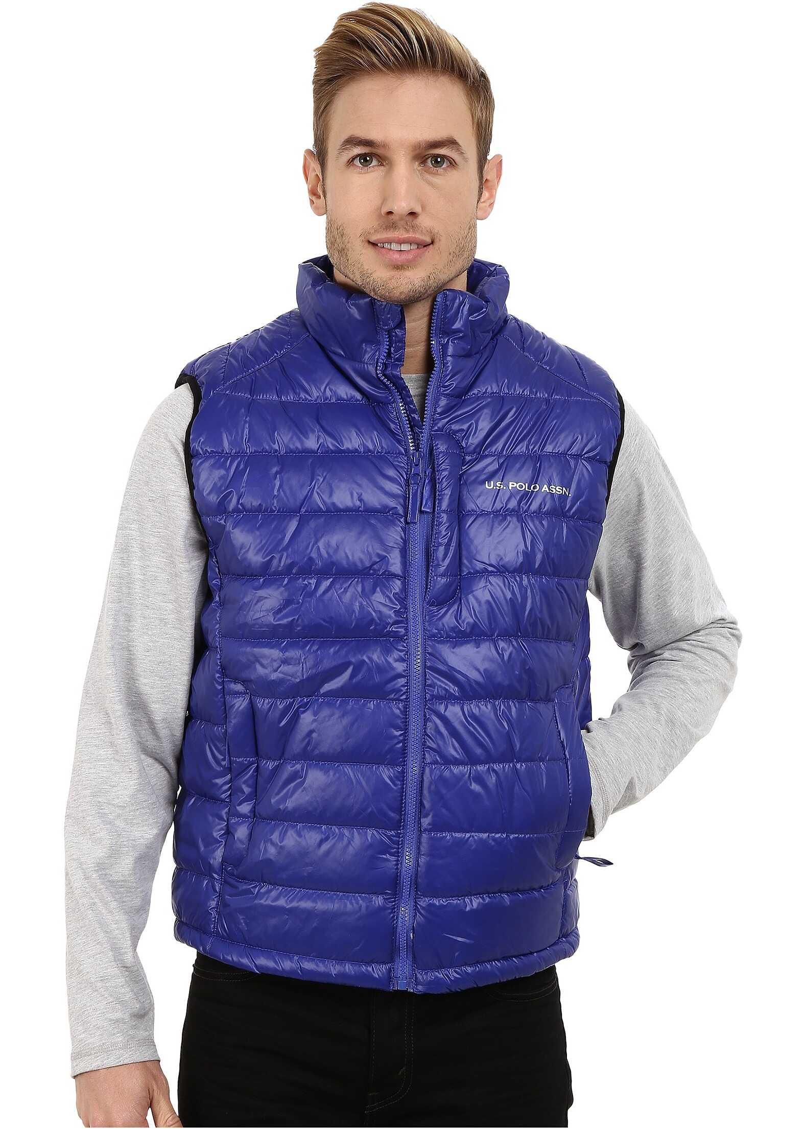 U.S. POLO ASSN. Small Chanel Puffer Vest Cobalt Blue