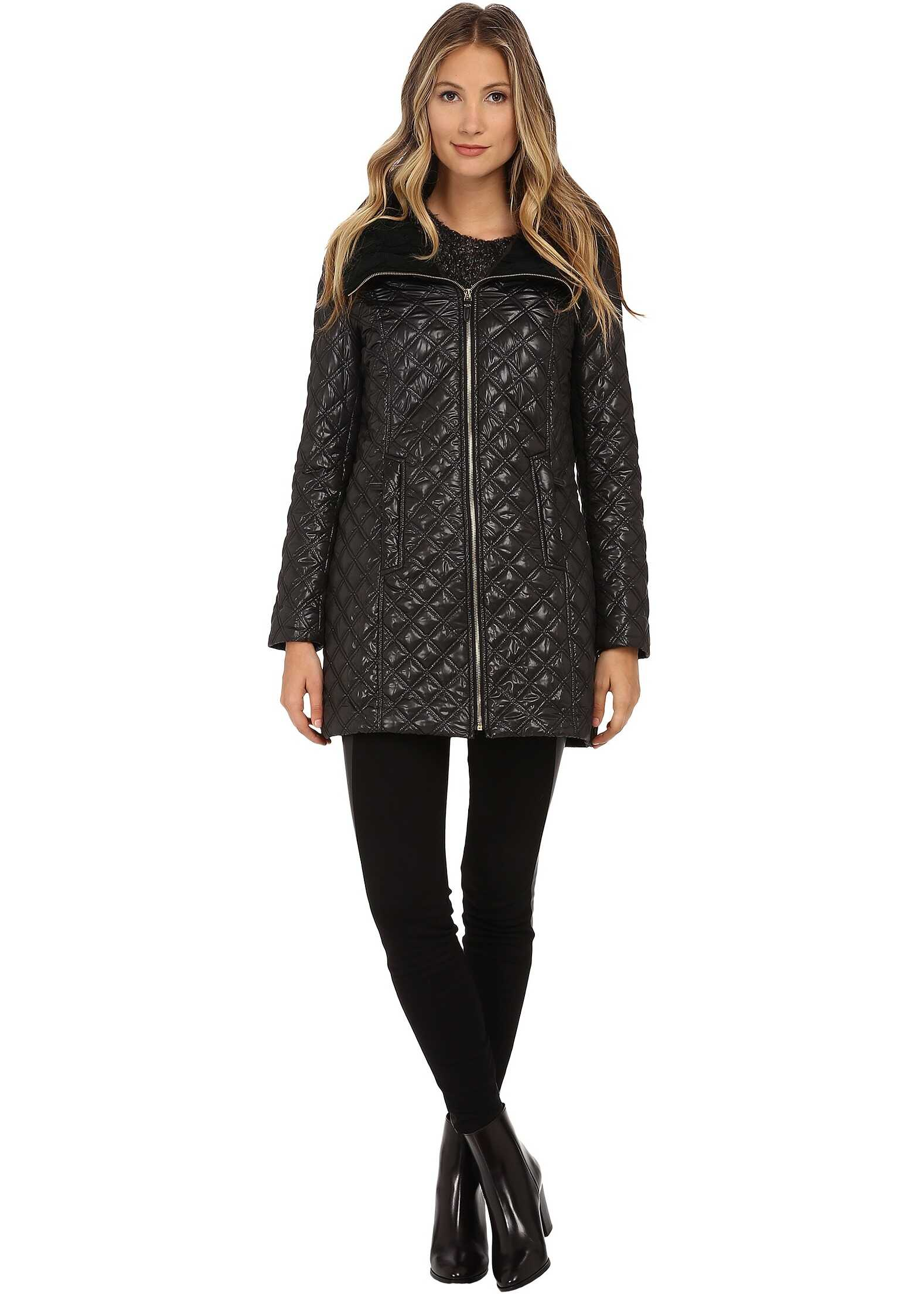 Geaca De Puf Femei Via Spiga Quilt Coat W/ Knit Co