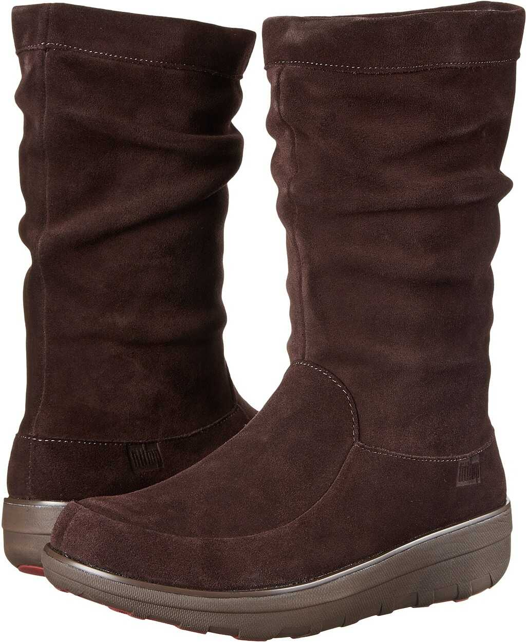FitFlop Loaff™ Slouchy Knee Boot Dark Brown