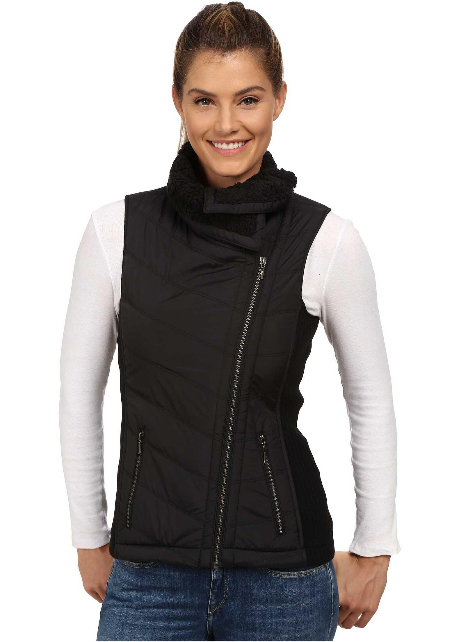Prana Diva Chevron Quilt Vest Black