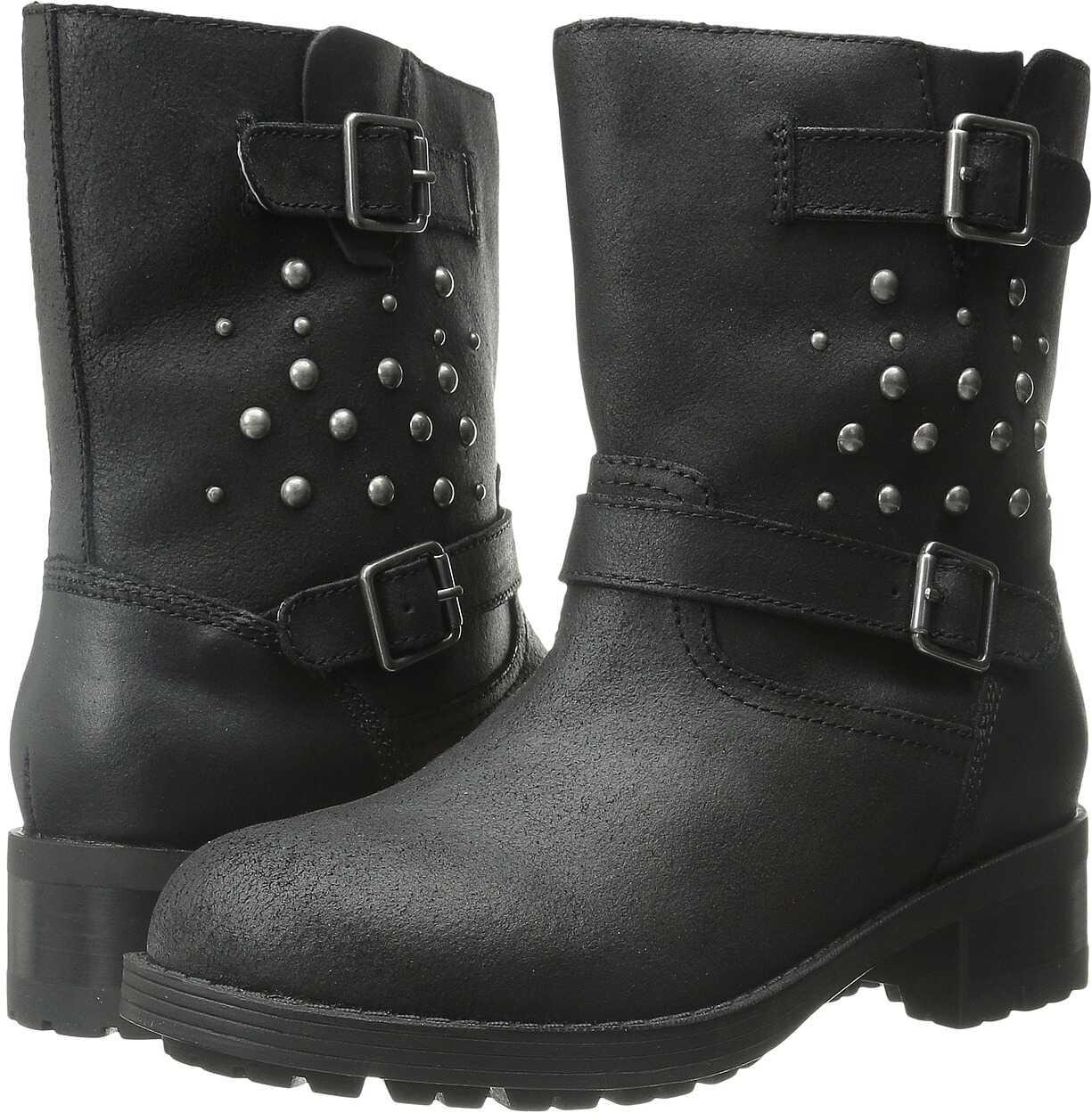 Polo Ralph Lauren Kids Biker Boot (Big Kid) Black Leather