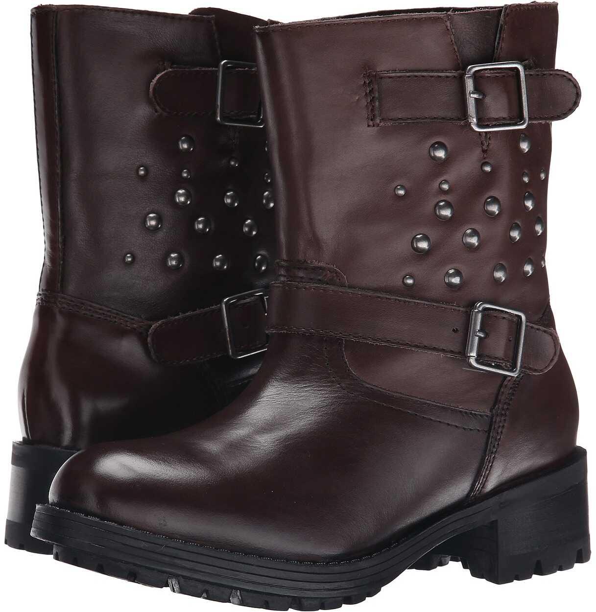 Polo Ralph Lauren Kids Biker Boot (Big Kid) Brown Leather