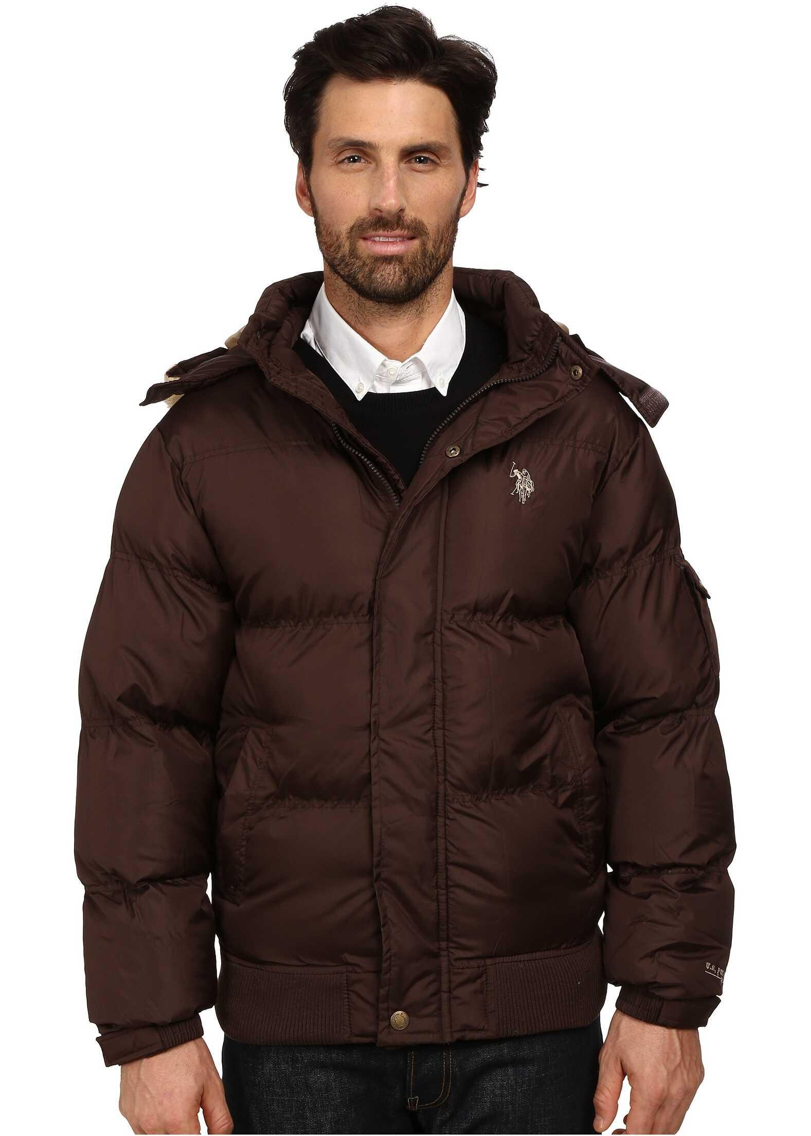 U.S. POLO ASSN. Short Snorkel Jacket Dark Brown