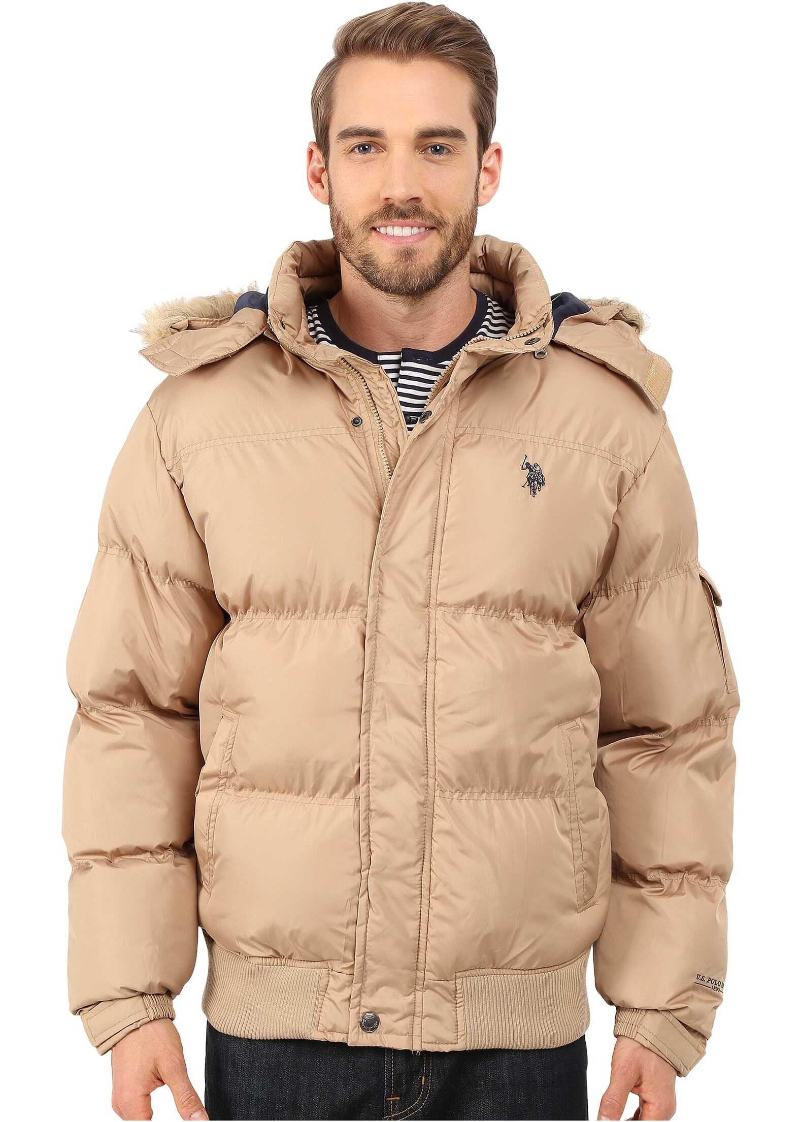 U.S. POLO ASSN. Short Snorkel Jacket Desert Khaki
