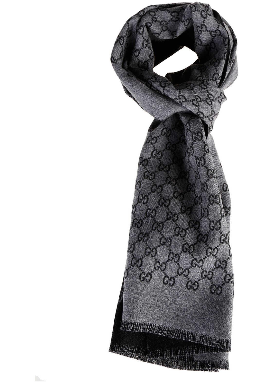 Gucci Scarf Jacquard Grey