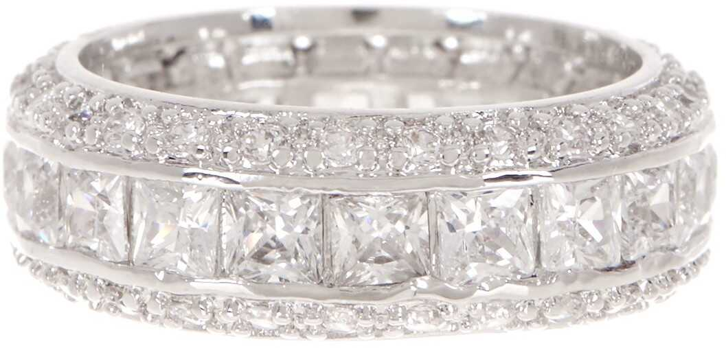 Ariella Collection Baguette Channel Band CLEAR