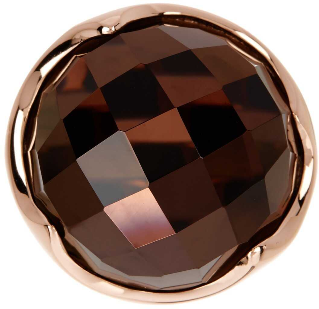 Milor Jewelry Faceted Stone Ring 18K ROSE GOLD PLATED
