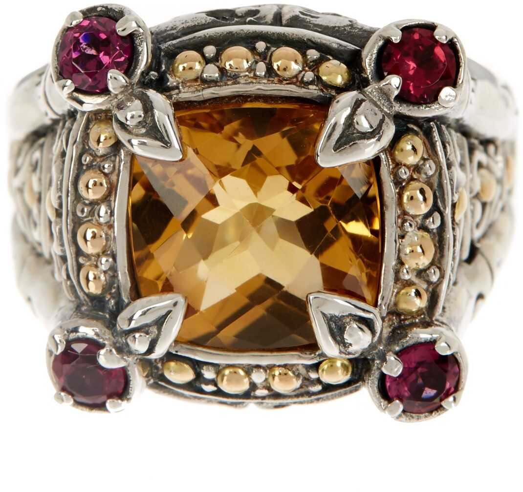 Phillip Gavriel 18K Yellow Gold & Sterling Silver Citrine & Amethyst Ring Yellow-White
