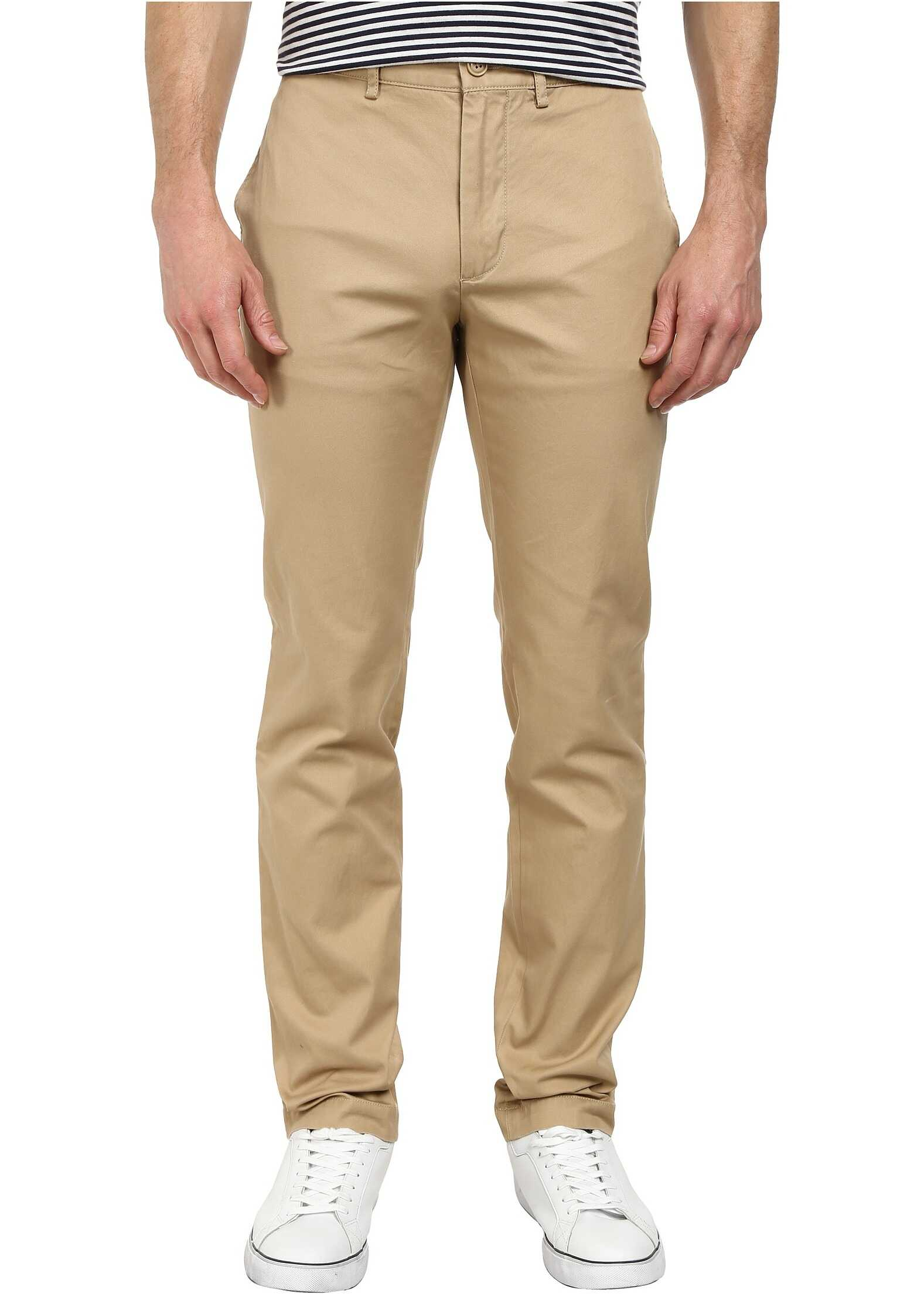 Lacoste Regular Fit Twill Chino* Light Macaroon Brown