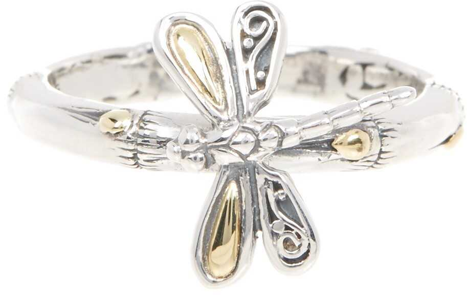 Phillip Gavriel 18K Yellow Gold & Oxidized Sterling Silver Dragonfly Ring Yellow-White