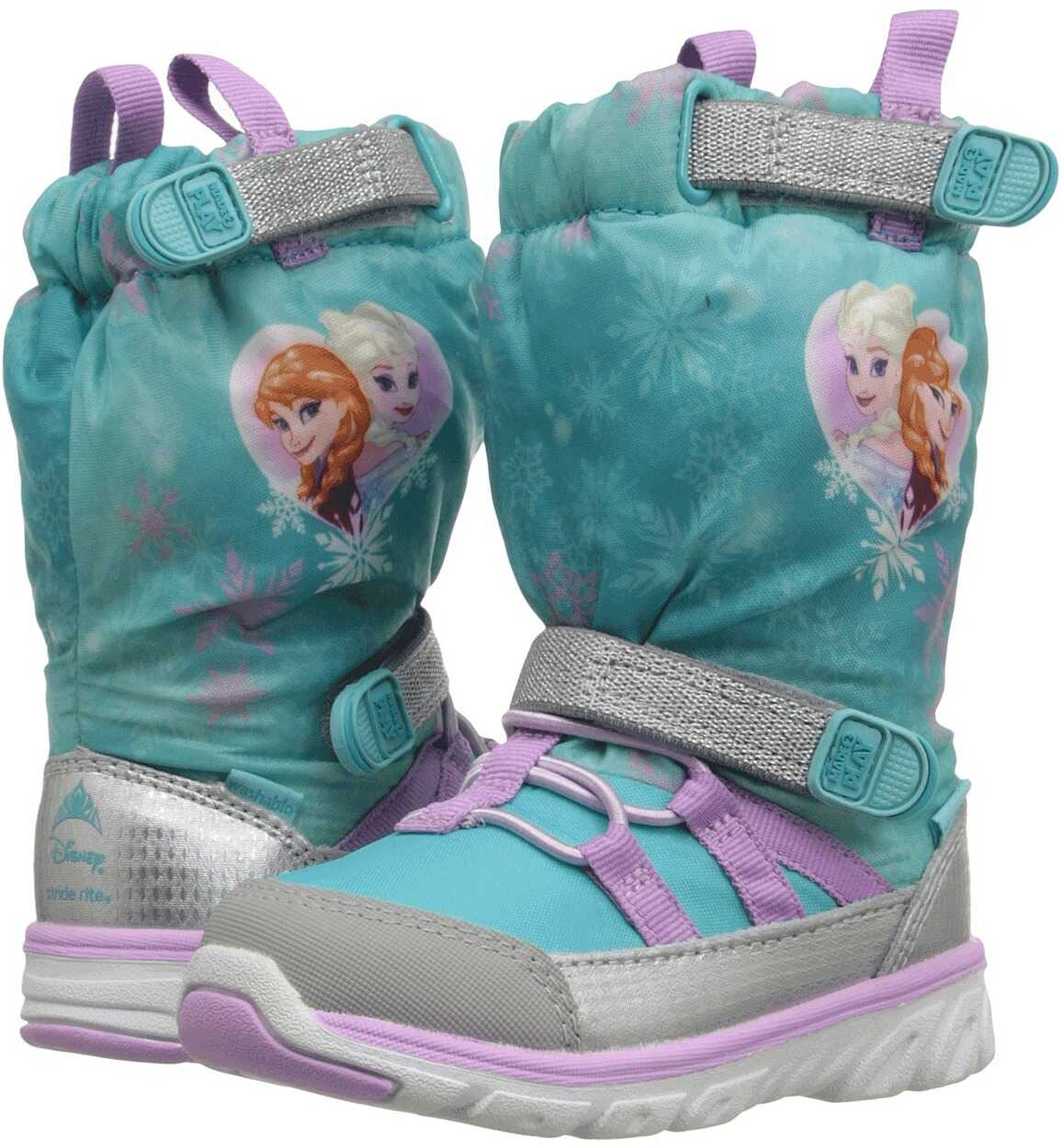 Stride Rite Frozen Made 2 Play Sneaker Boot (Toddler) Turquoise Multi