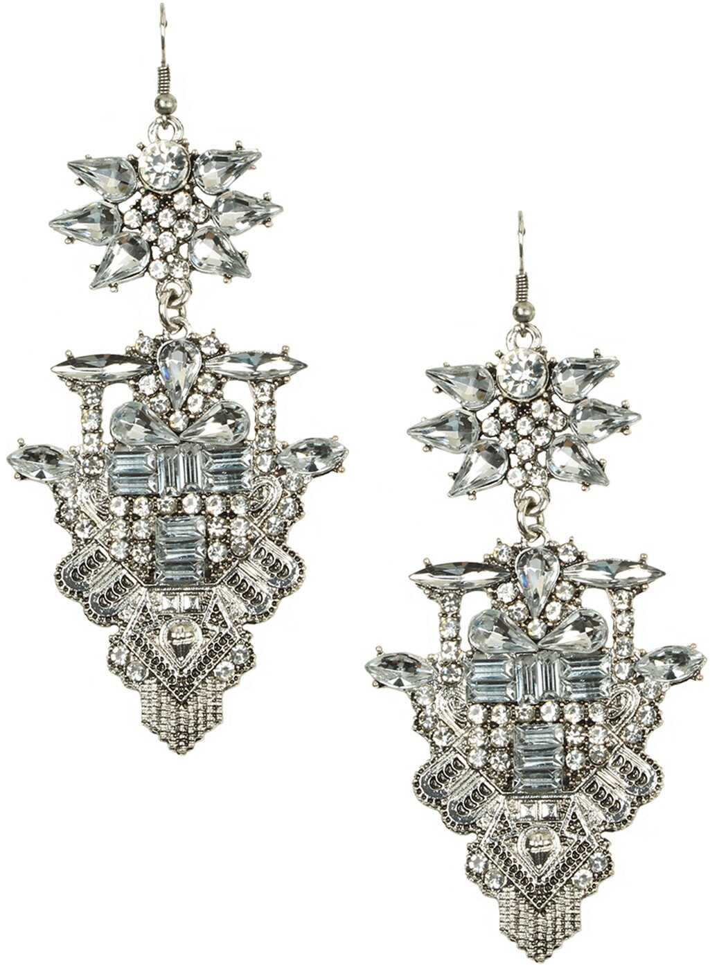 Poza Eye Candy Los Angeles Lex Earrings SILVER