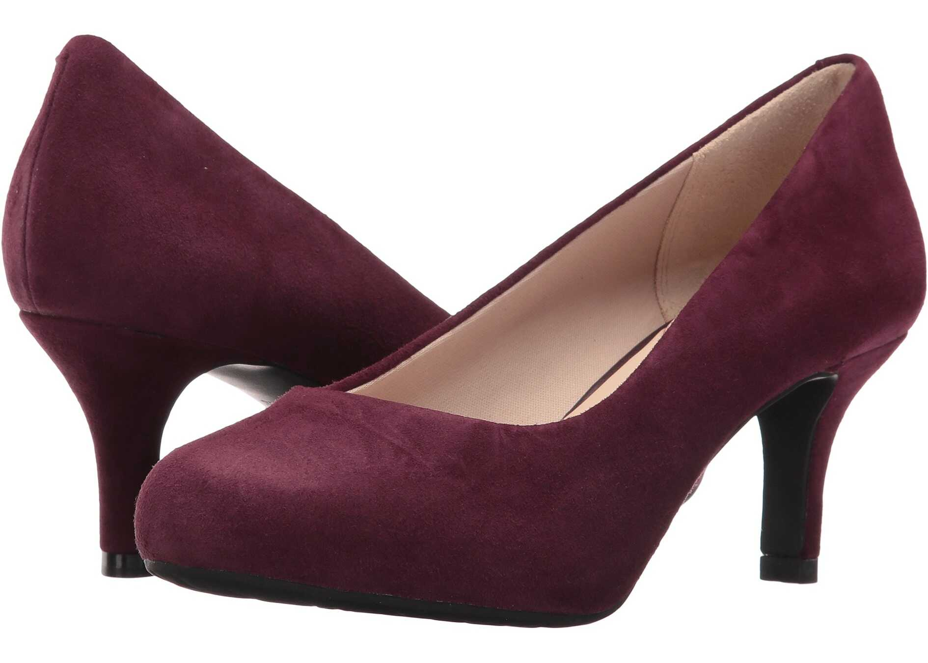 Rockport Seven to 7 Low Pump Dark Vino Kid Suede