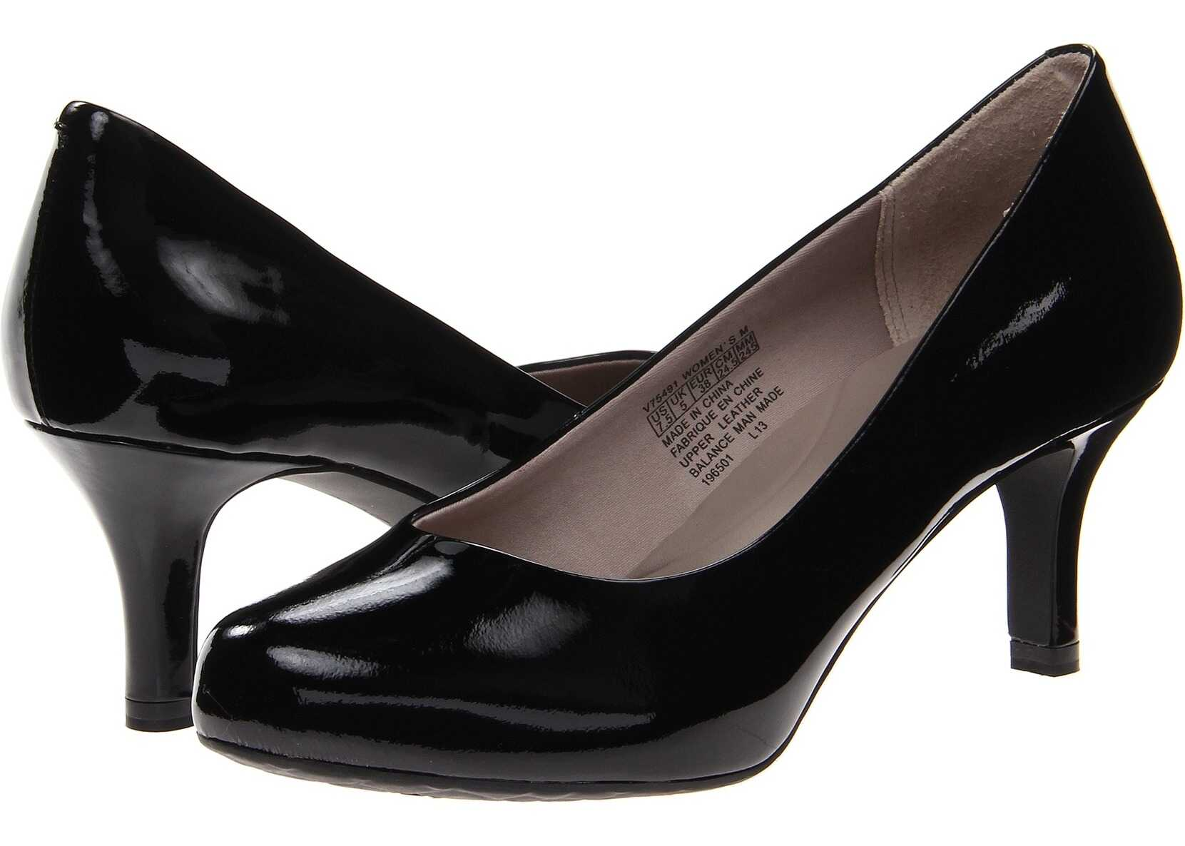 Rockport Seven to 7 Low Pump Black Patent