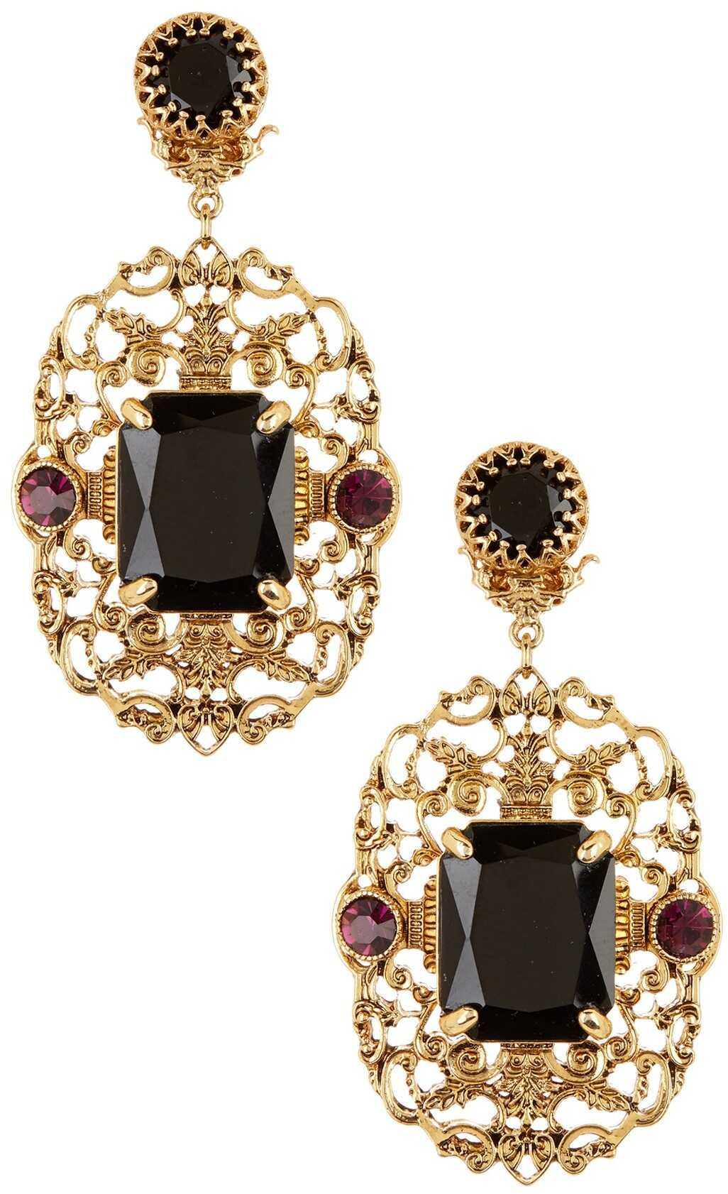 LAUREN Ralph Lauren Filigree Stone Statement Earrings GOLD MULTI