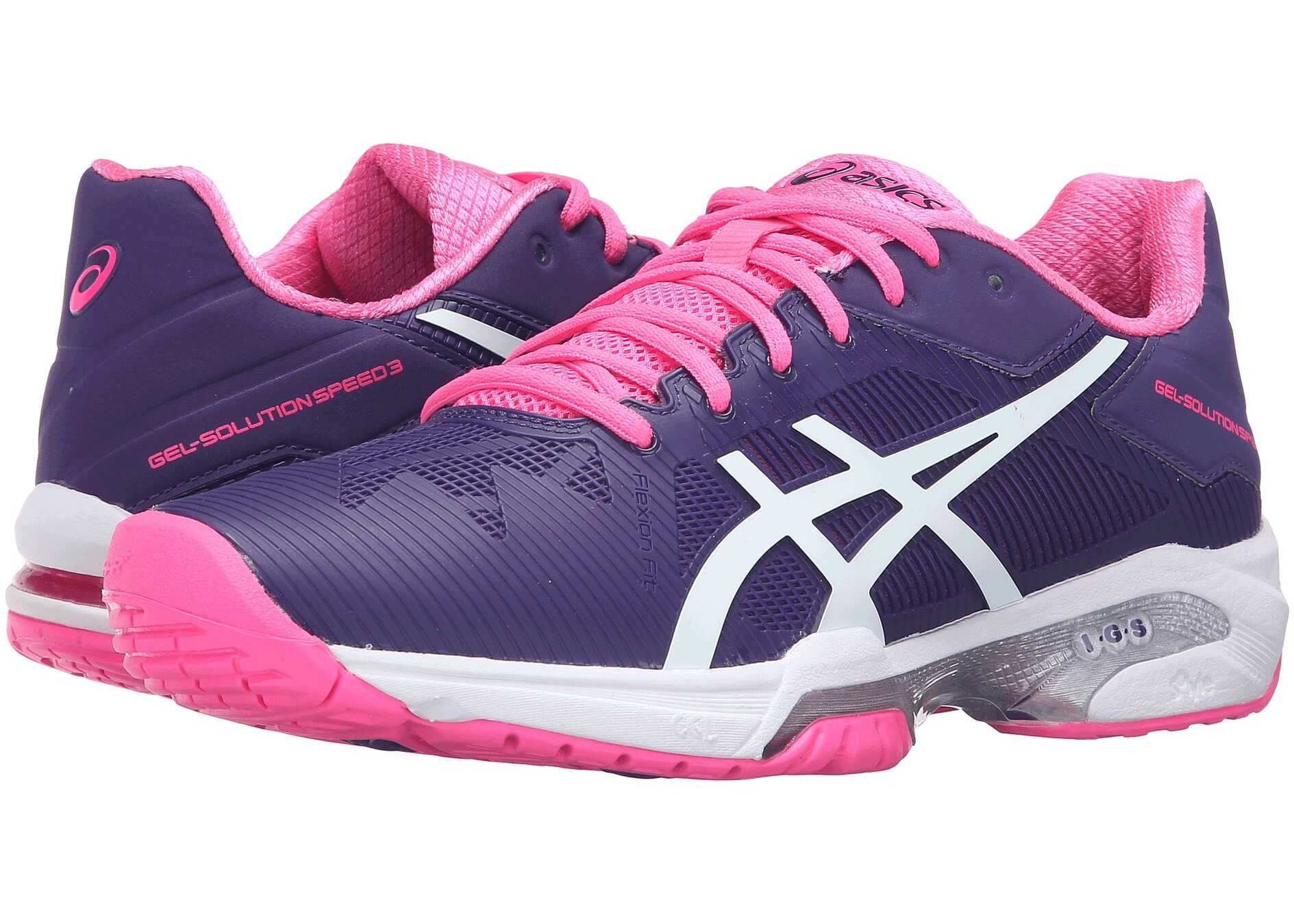 ASICS Gel-Solution® Speed 3 Parachute Purple/White/Hot Pink