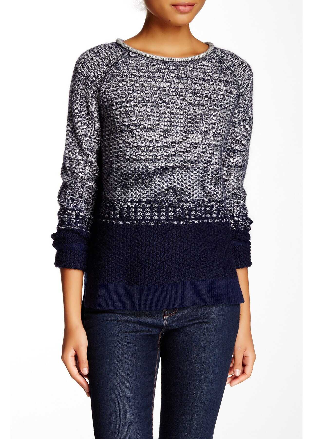 Loma Wool Blend Sweater* NAVY-CALICO