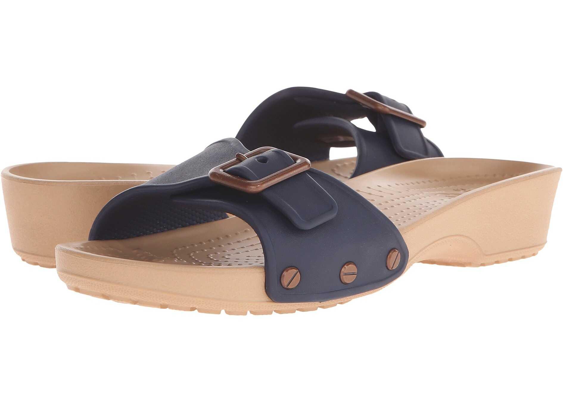 Crocs Sarah Sandal Navy/Gold