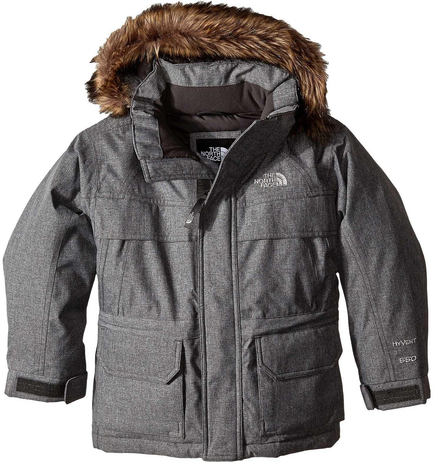 The North Face Kids Mcmurdo Down Parka (little Kids/big Kids)* Charcoal Grey Heather (prior Season)