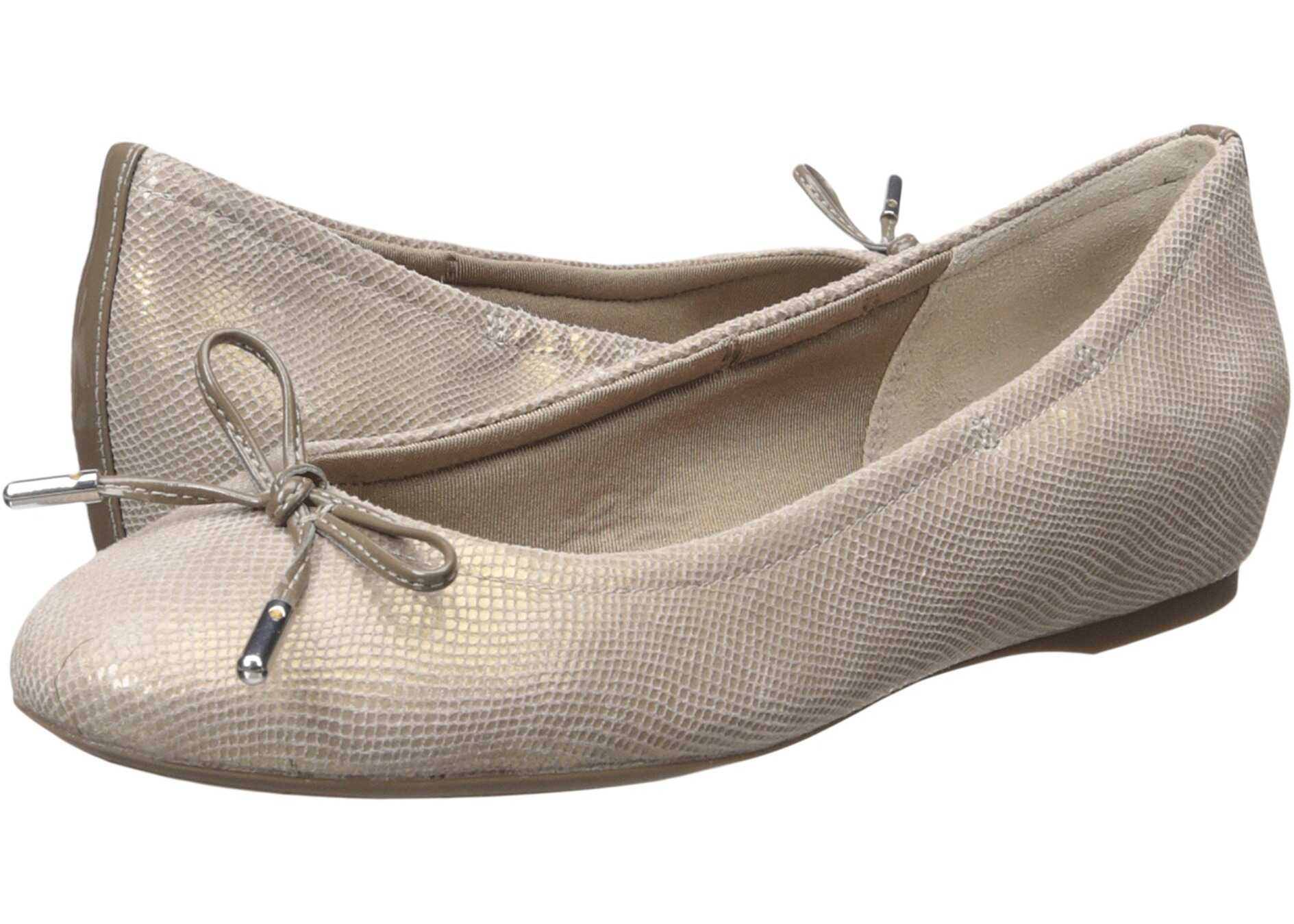 Rockport Total Motion Hidden Wedge Tied Ballet Ash Snake