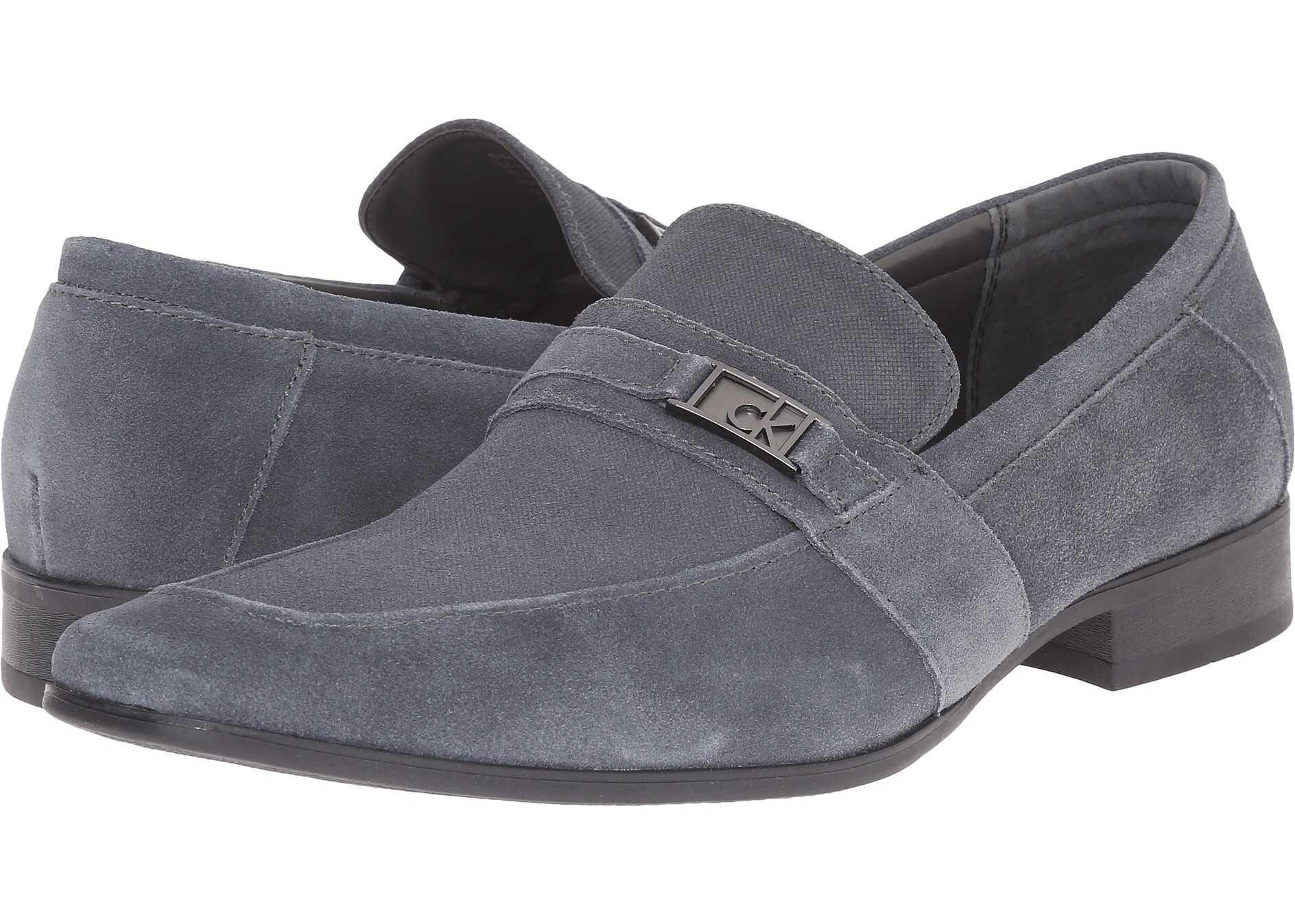 Grey Slip On Dress Shoes Mens