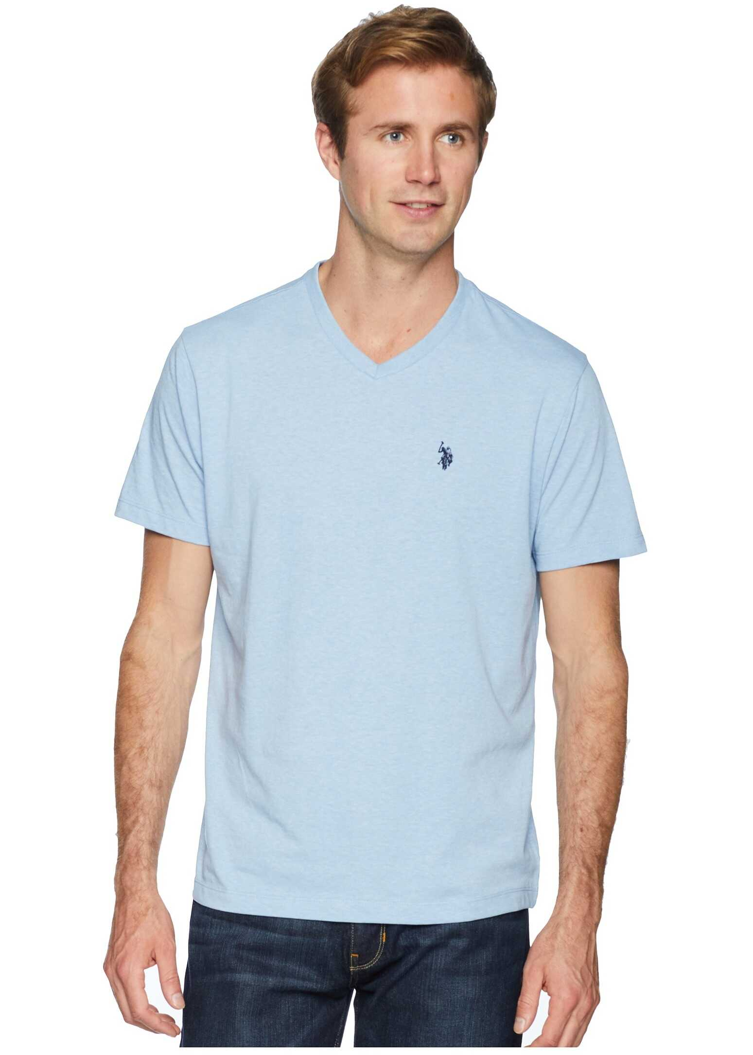 Short Sleeve Solid V-Neck T-Shirt
