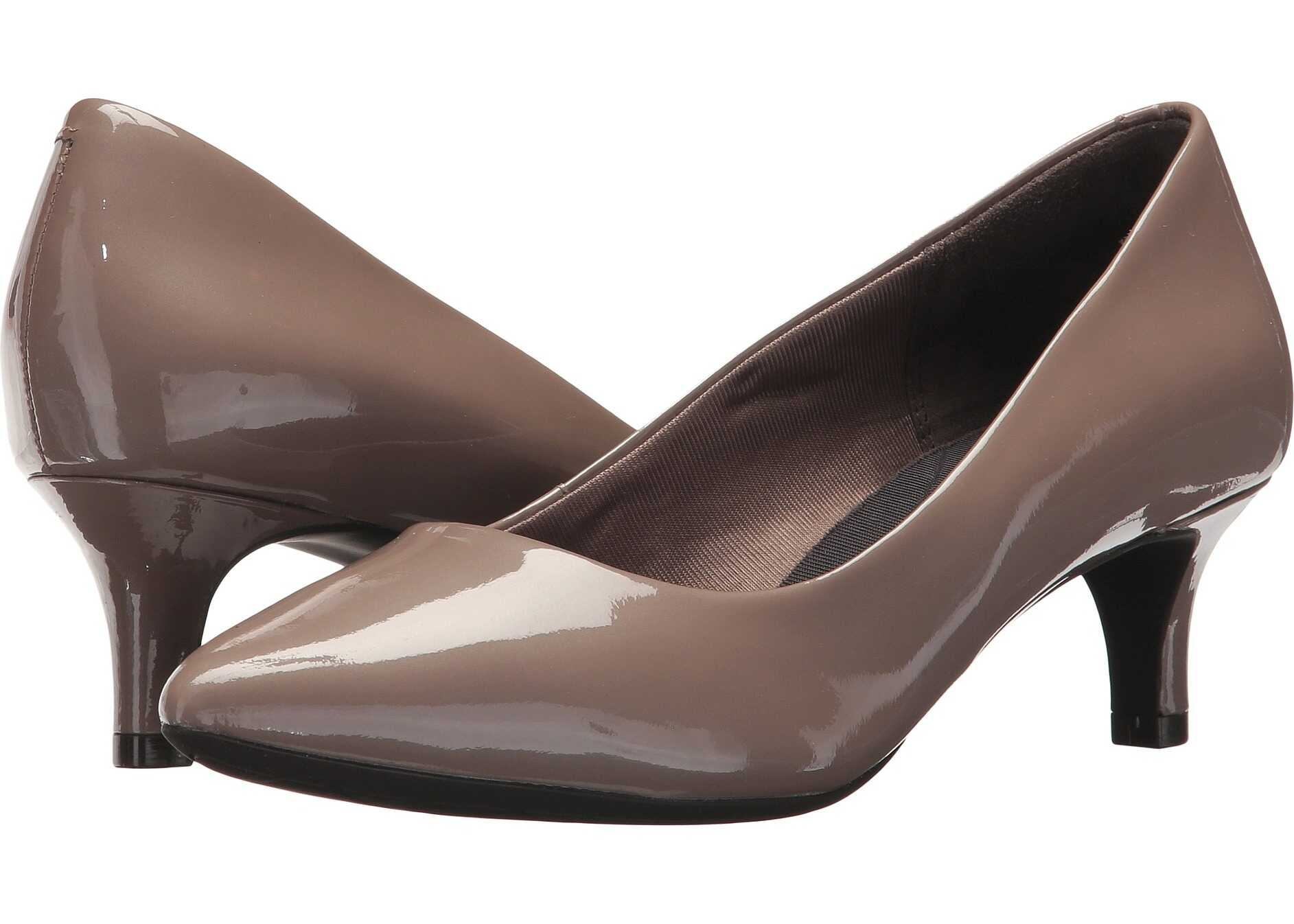 Rockport Total Motion Kalila Pump Taupe Grey Pearl Patent