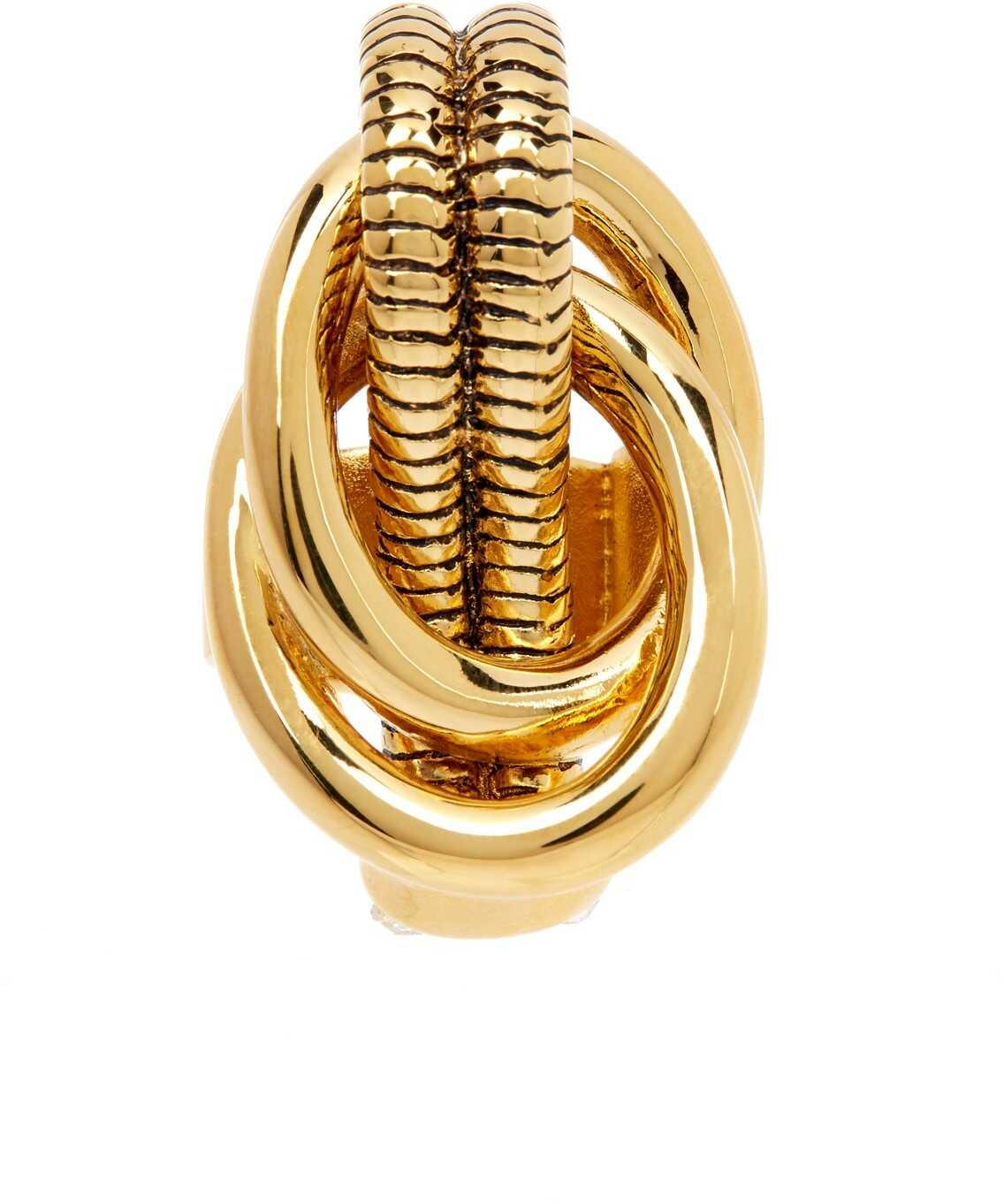 Diane von Furstenberg Gemma Knotted Cocktail Ring - Size 7 GOLD