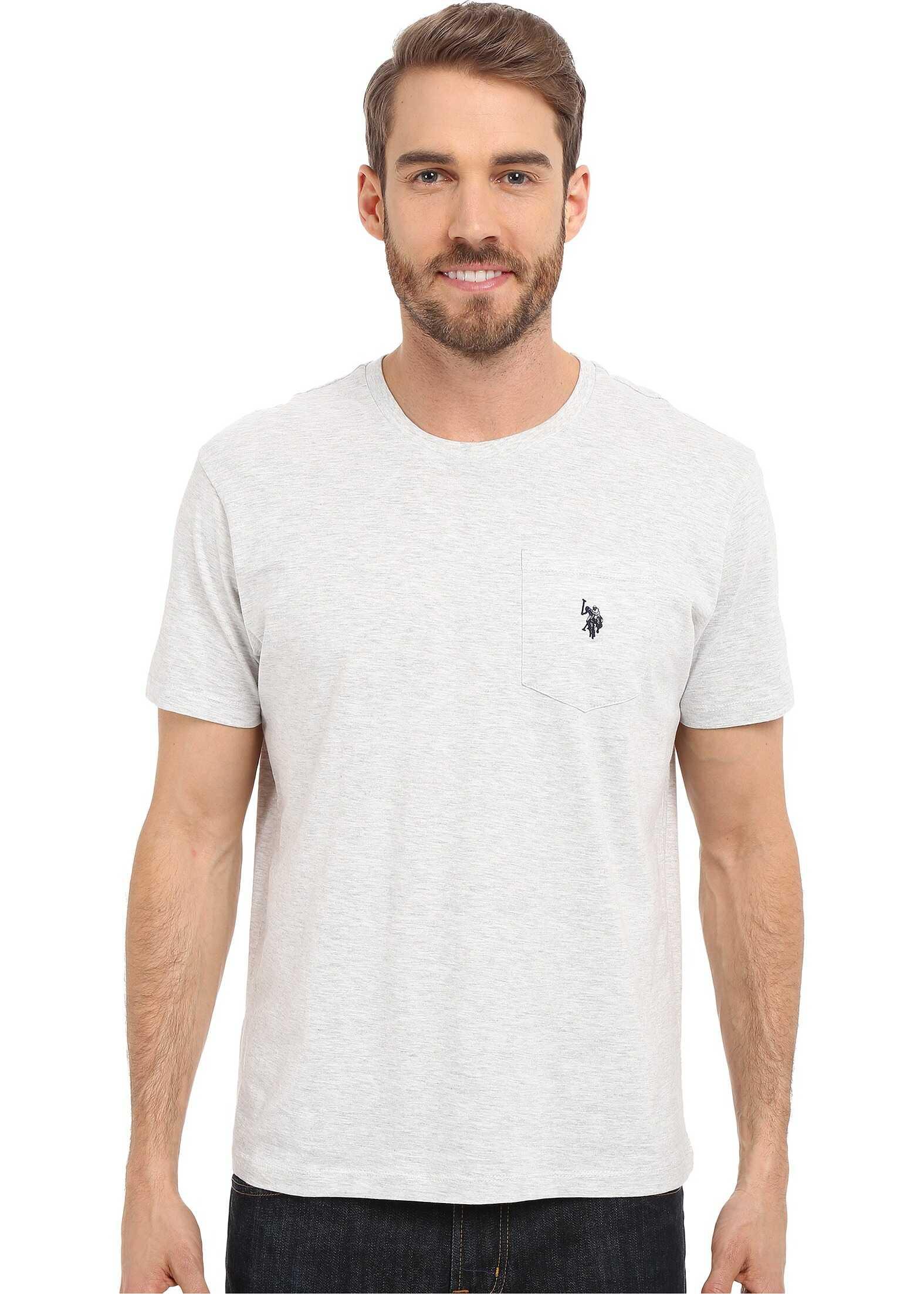 Solid Crew Neck Pocket T-Shirt