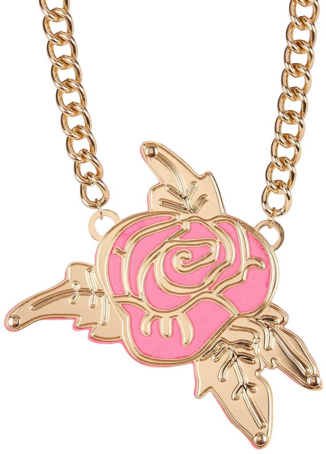 Betsey Johnson Rose Frontal Pendant Necklace ROSE-QUART
