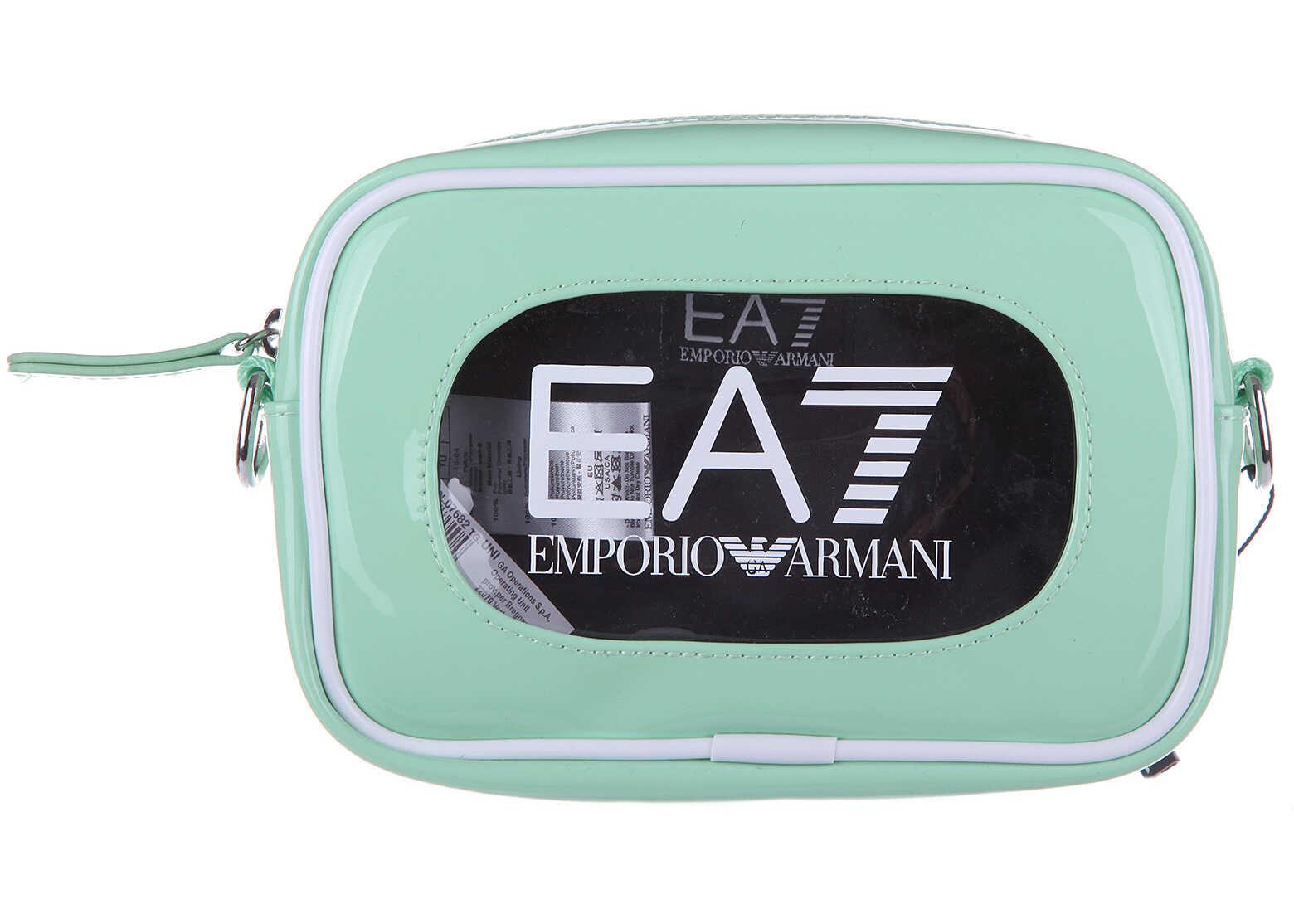 EA7 Messenger Shoulder Bag Stand Alone Gym Green