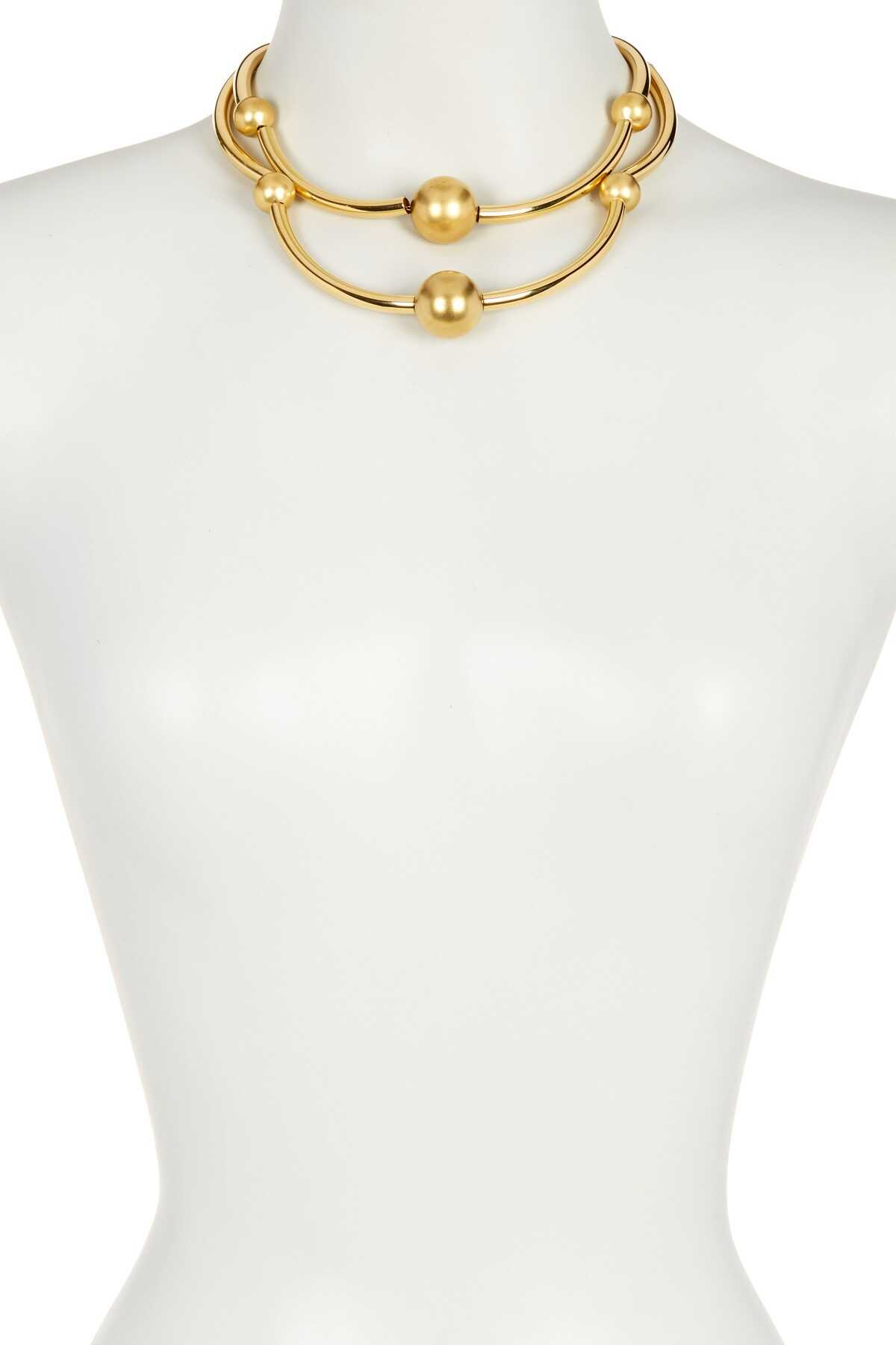 Trina Turk Double Row Necklace GOLD PL-MD GOLD