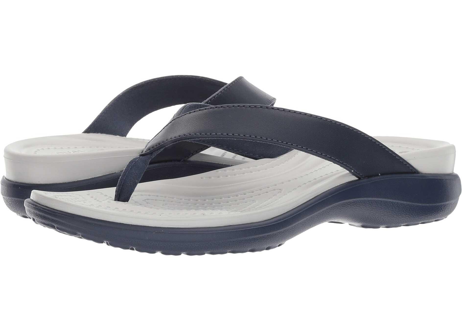 Crocs Capri V Flip Navy/Pearl White