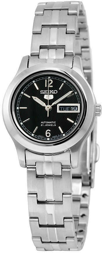 Seiko 5 Automatic Black Dial Stainless Steel Ladies Watch SYMD99 N/A