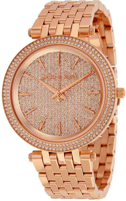 Michael Kors Darci Crystal Pave Dial Rose Gold-tone Stainless Steel Ladies N/A
