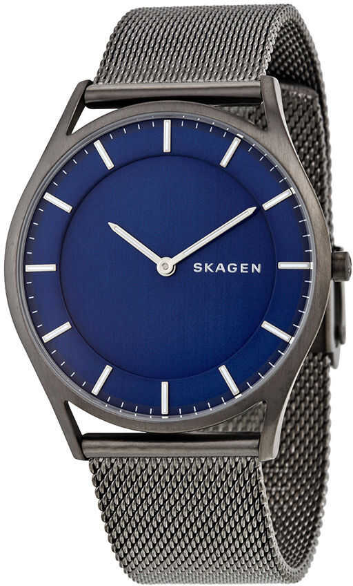 Skagen Holst Blue Dial Grey Ion-plated Stainless Steel Mens Watch SKW6223 N/A